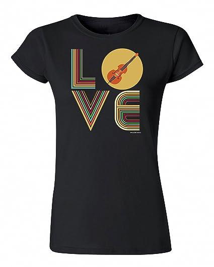 Para Mujer Senora Música Camiseta LOVE CELLO Strings Retro Instrumento: Amazon.es: Ropa y accesorios