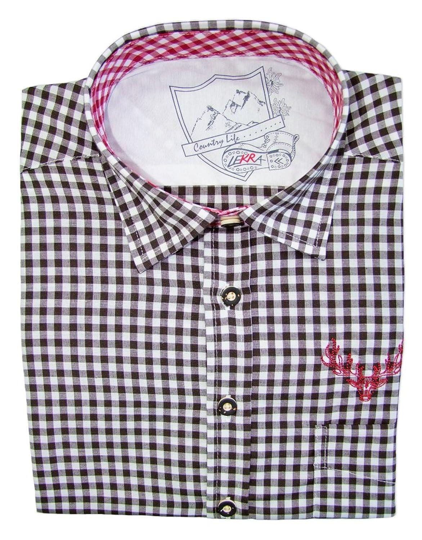 Karo Trachtenhemd Leopold für Herren - Schönes zweifarbig kariertes Marken Hemd zu Lederhose und Trachten