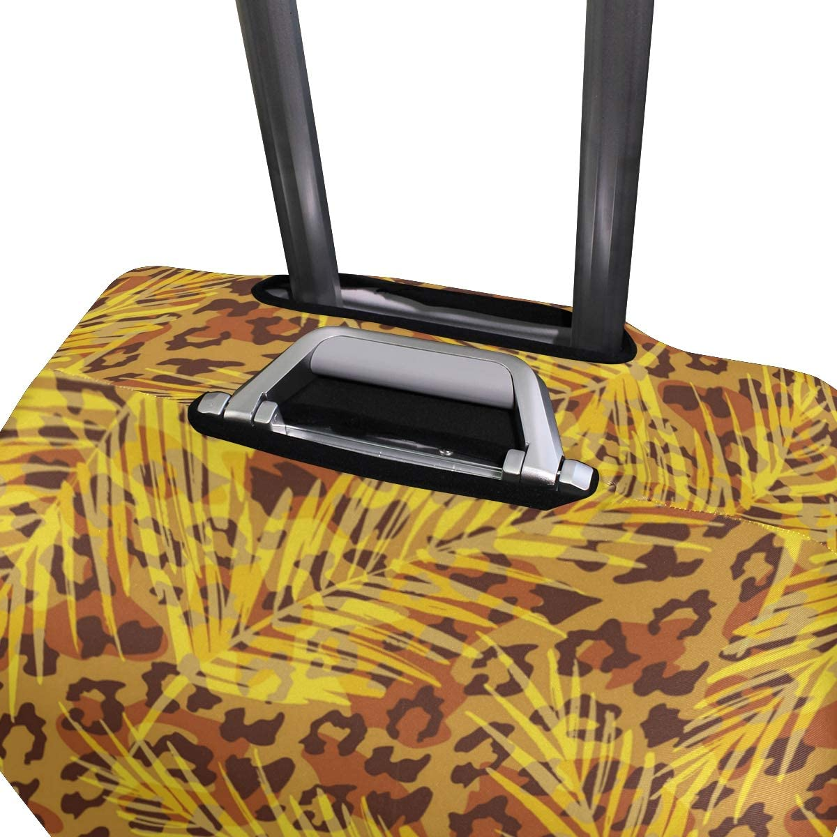 Leopard Palm Leaves Travel Luggage Protector Case Suitcase Protector For Man/&Woman Fits 18-32 Inch Luggage