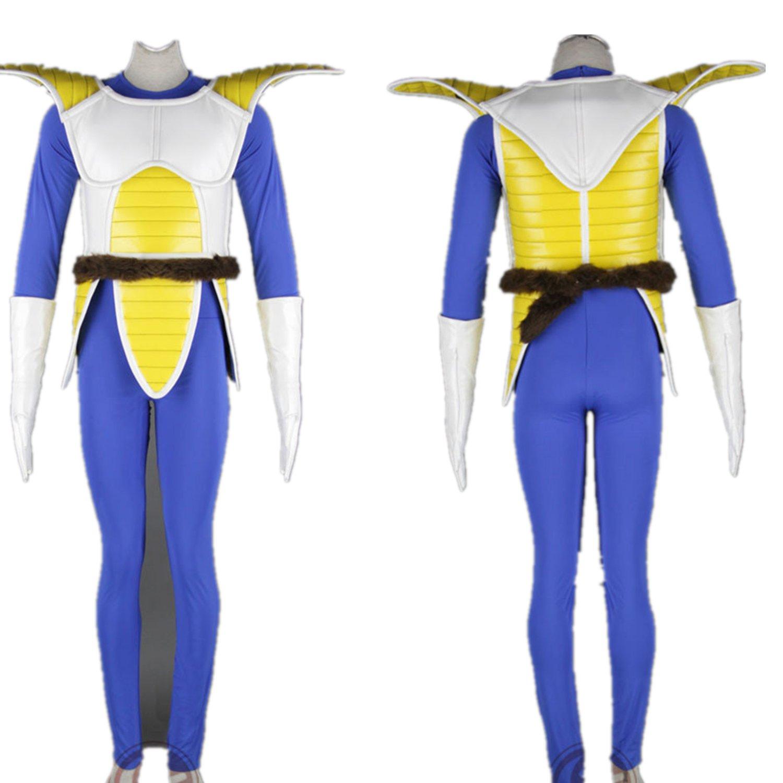 Japanese Anime Dragon Ball Son Goku Uniform Cosplay Costume - Vegeta 6Pcs Set