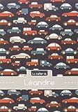 Le cahier de Léandre - Blanc, 96p, A5 - Voitures