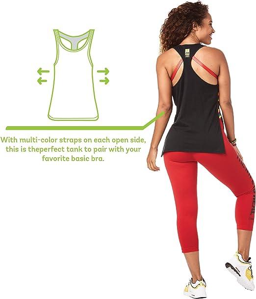 Zumba Athletic Open Side Fashion D/ébardeur Respirant Danse Femmes Workout Tops