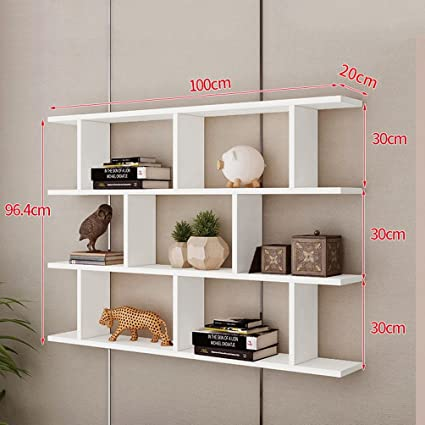 WAN SAN QIAN Creative Wall Mount Bookshelf Living Room Modern Simple Cabinet