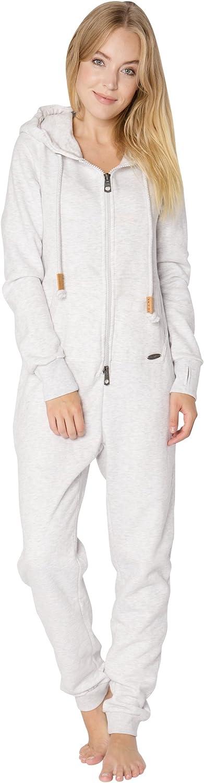 Combinaison Unie et Confortable en Sweat Eight2Nine Combinaison Femme en Sweat Jumpsuit Douillet