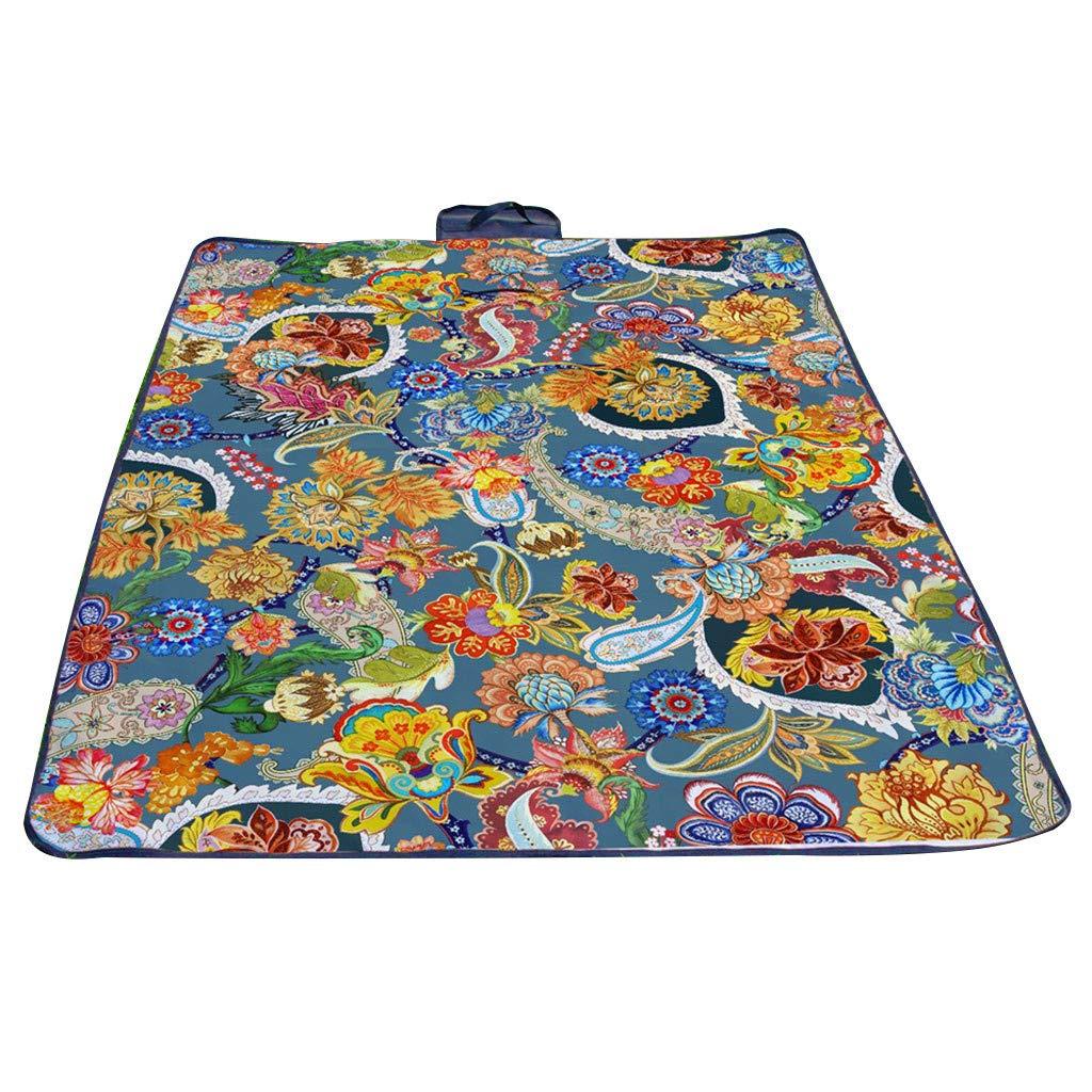 Frog Fun Hot.Sale | Waterproof Outdoor Picnic Blanket Camping Rug Folding Travel Beach Mat (E)