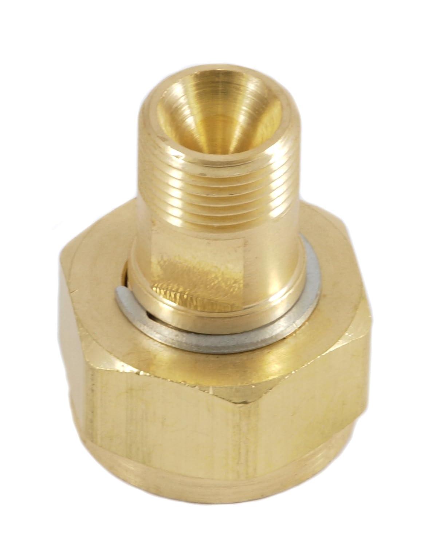Forney 87801 Acetylene Regulator Adaptor, CGA 520 To CGA 200, B Tank to Regulator, 40-CF Forney Industries