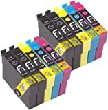 First Call Inks Ink Cartridge Replacing Epson Apple T1295 Multipack (Pack of 10: 4x Black, 2x Cyan, 2x Magenta, 2x Yellow)