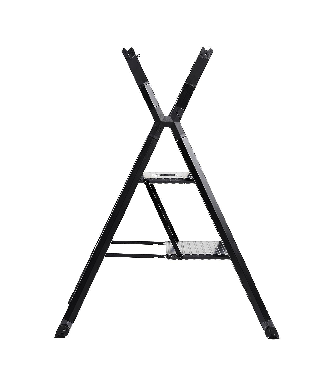 mit S/ägeauflage als Werkbank nutzbar 7103002 Hymer Alu-Mehrzweckleiter Multi-Worker mit 2 Stufen klappbar