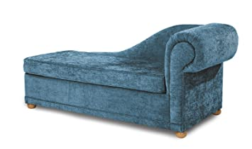 Highgrove 2 seat sofa bed (6cm std foam mattress) - Teal Right ... on double chaise sofa bed, antique walnut bed, chaise sleeper bed, chaise lounge bed, chair bed,