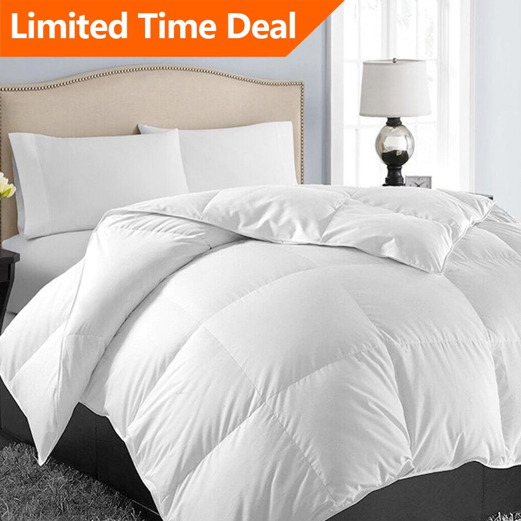 Queen/Full Soft Quilted Down Alternative♥Summer Cooling Comforter Luxury♥Hotel Collection Reversible Duvet Insert♥Fill with Corner Ties,Warm Fluffy Hypoallergenic♥for All Season White,88 by 88 Inches by EASELAND
