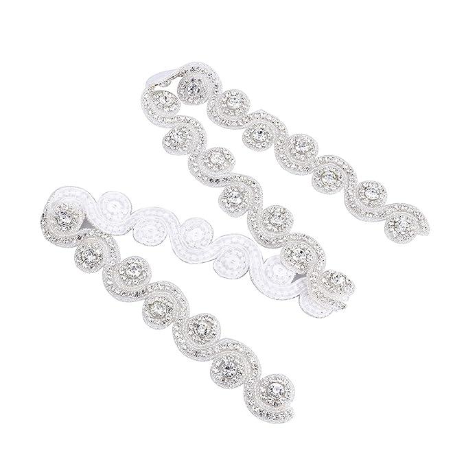 ROSENICE Crystal Diamante de Imitación Apliques de Cinturón de Vestido de Dama de Honor Novia de