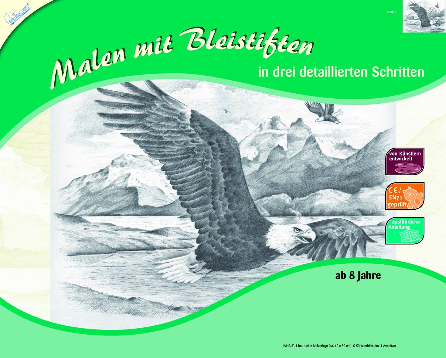 Mammut 117006 - Malen mit Bleistiften Professional-Adler: Amazon.de ...