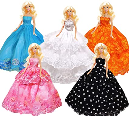 Clothing Custom, Handmade 15-piece Handmade 11.5 Doll Dresses Clothes 5 Handmade Dresses 10 pairs shoes