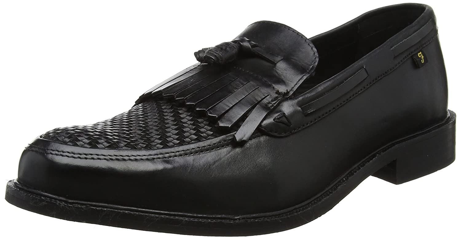 Farah Vintage Chapman, Mocasines para Hombre 45 EU|Negro (Black Leather 001)