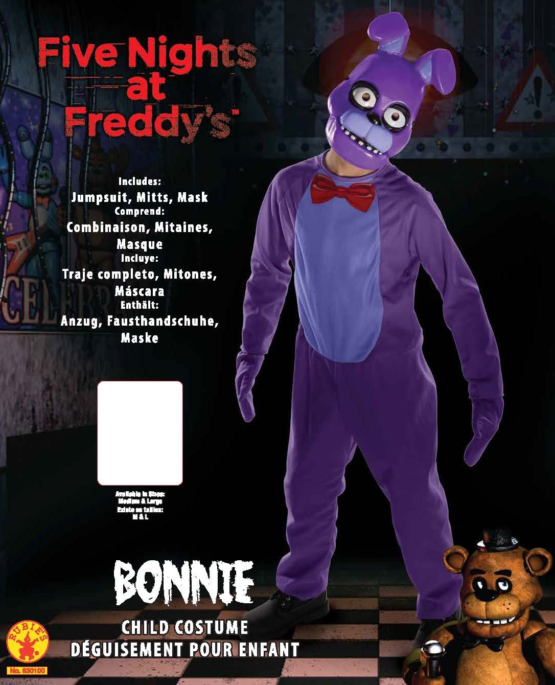 amazoncom rubies five nights childs value priced at freddys bonnie costume large toys games