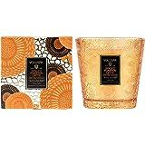Voluspa Spiced Pumpkin Latte Candle | 2 Wick Glass Boxed Hearth | 16.5 Oz | All Natural Wicks and Coconut Wax for Clean Burni