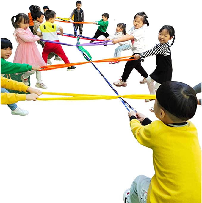 Amazon.com: N\C Hopscotch Tug of War Rope for Kids Group Game Team Building Outdoor Play Girls Boy Toys 5.5CM: Home & Kitchen