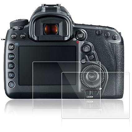 AFUNTA Protectores de Pantalla para Canon EOS 5D MK IV Mark 4, 2 Paquetes Películas