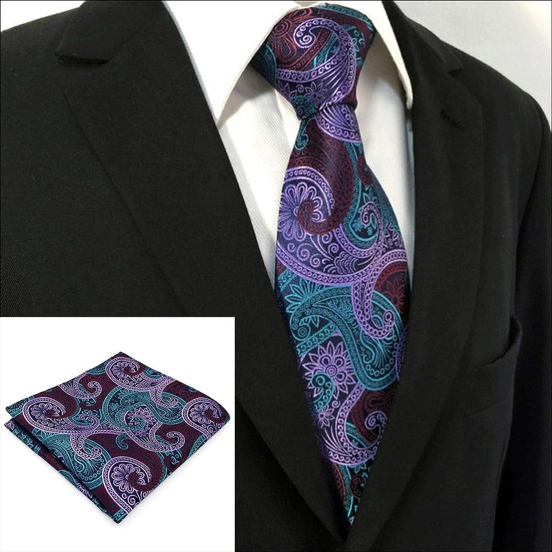Shlax&Wing - Corbata - Paisley - para hombre Verde verde oscuro Talla única