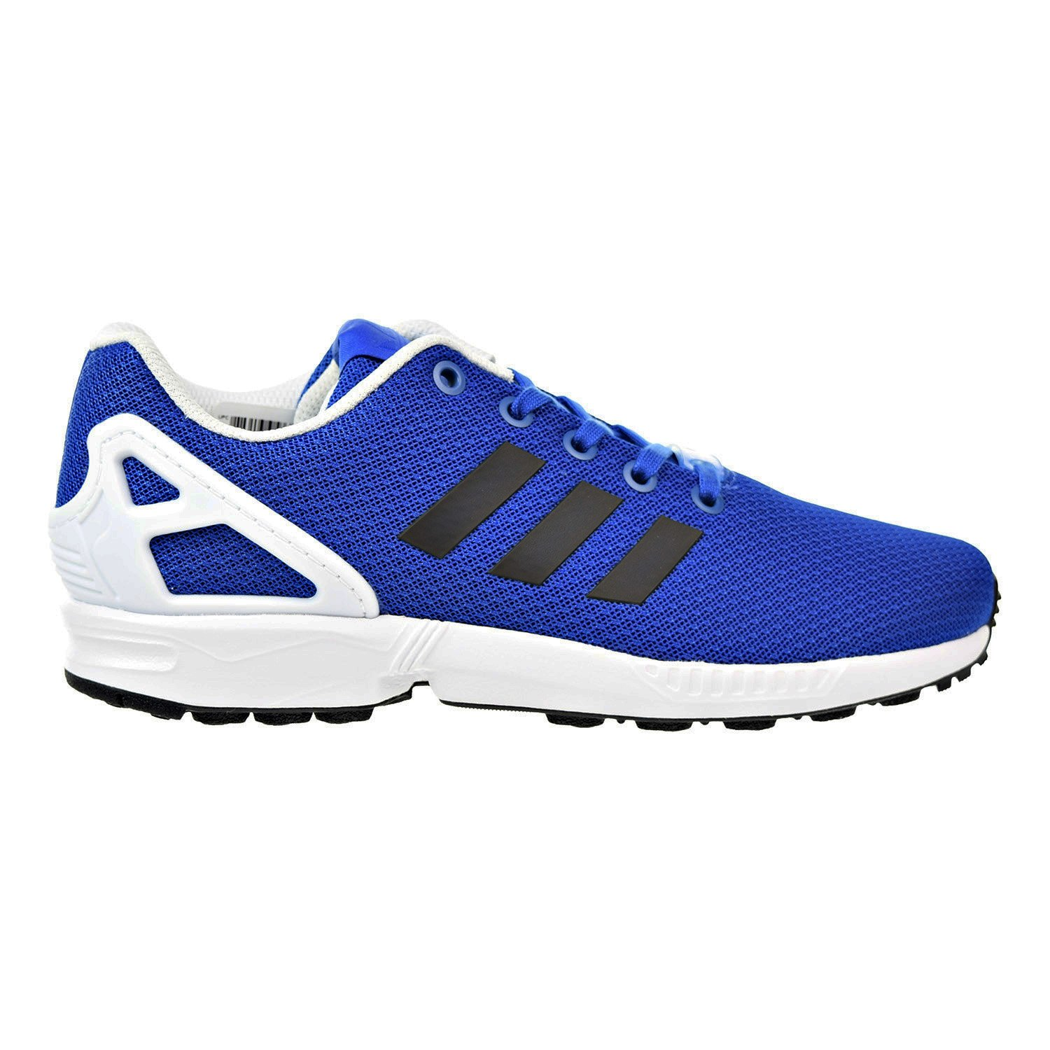 new styles 66be5 831ea adidas Originals Boys' ZX Flux J Running Shoe, Blue/Black/White, 6 M US Big  Kid