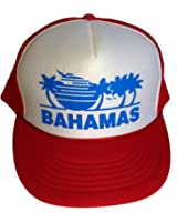 Red White Snapback Summer Bahamas Mesh Trucker Hat