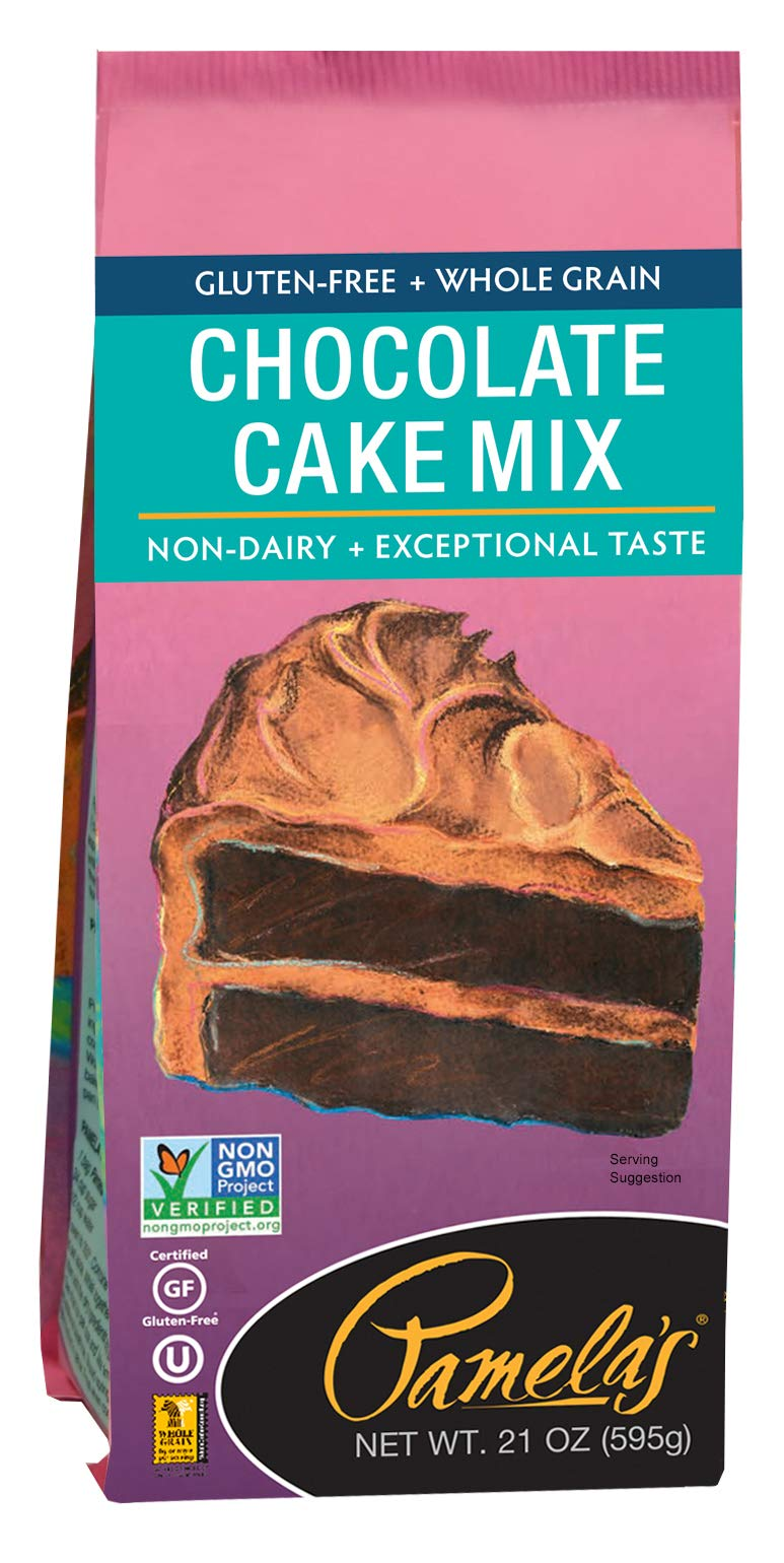 Pamela's Products Gluten Free Cake Mix, Chocolate, 21-Ounce Packages (Pack of 6) by Pamela's Products