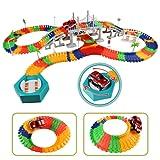 Macchinine Pista di Auto Racing Game con Pista Macchinine Cars Ponte e Accessori 192 Pezzi per Bambini