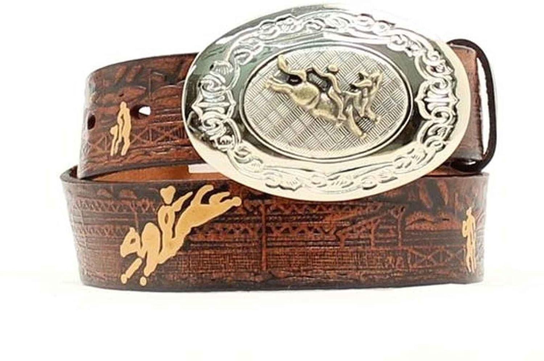 Nocona Boy's Bull Rider Cowboy Design Belt M&F Western N4422002