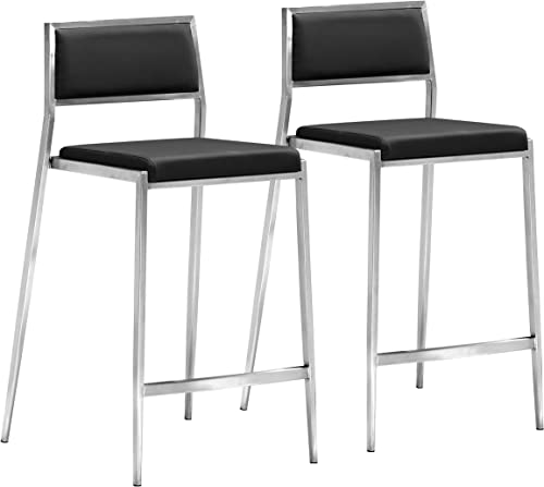 Zuo Dolemite Counter Chair Set of 2