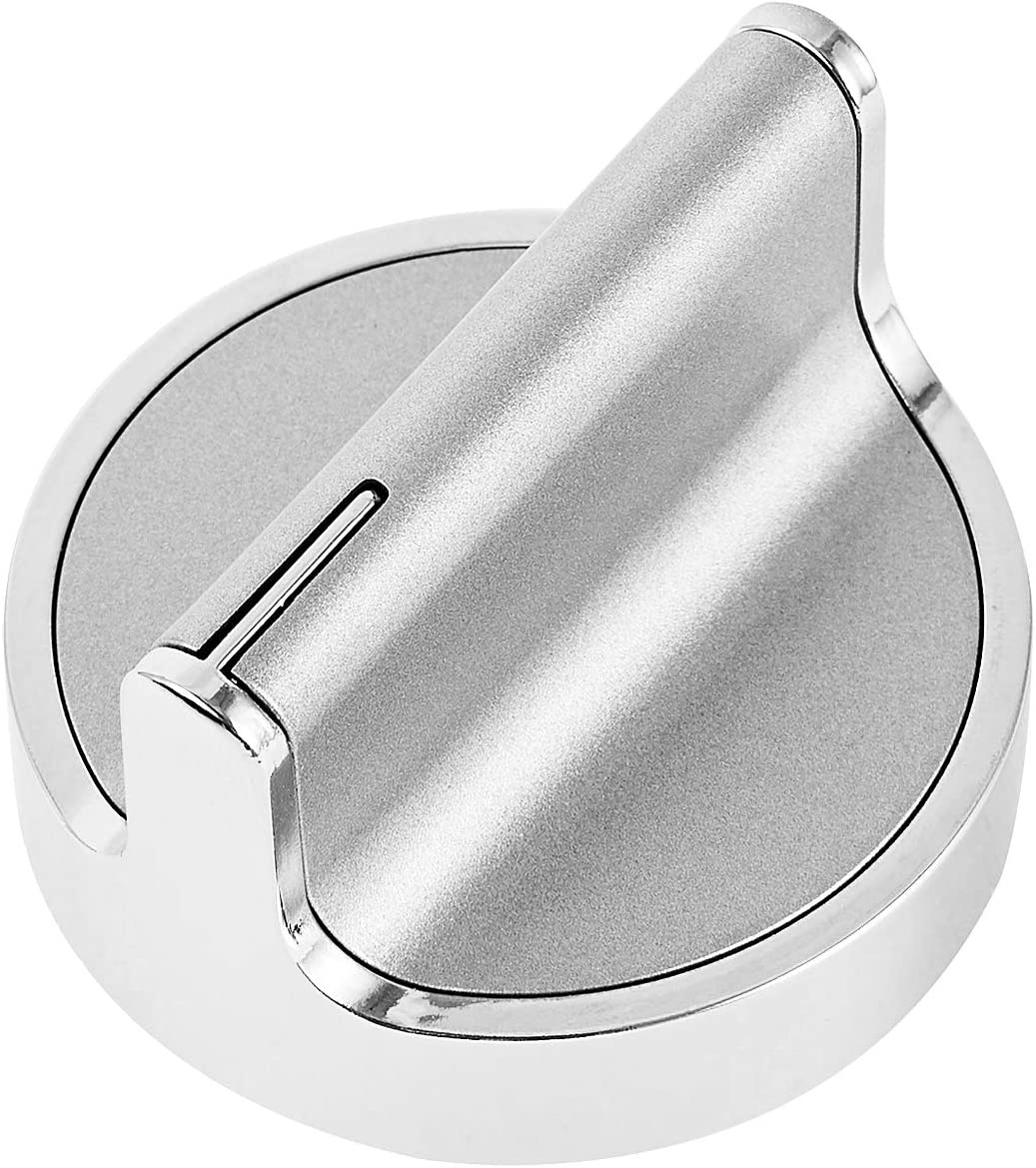 Stainless Steel W10594481 Knob Replacement for Whirlpool Stove/Range Control Knob Replace WPW10594481, AP6023301, PS11756643, W10698166 WCG97US0DS00, High Durable