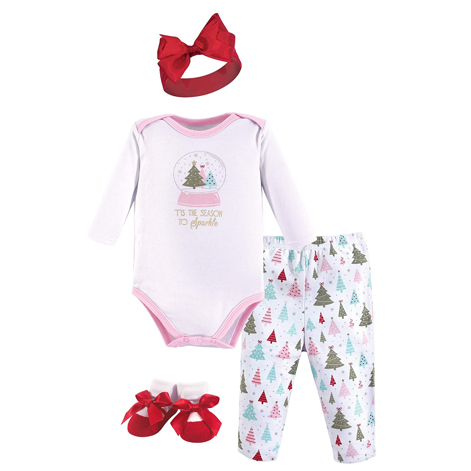 Hudson Baby Holiday Clothing Gift Set, 4 Piece 11156540