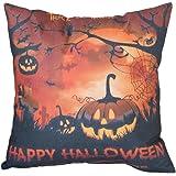 outflower Cuscino Divano Halloween elemento zucca materiali di lino cuscino decorazione di interno  45* 45cm