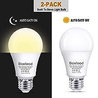 Deals on 2-Pack Boxlood Dusk to Dawn A19 LED Light Bulb