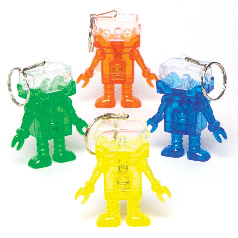 Baker Ross- Llaveros de Robot con Luces destellantes (Pack ...