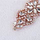 XINFANGXIU Bridal Applique with Crystal