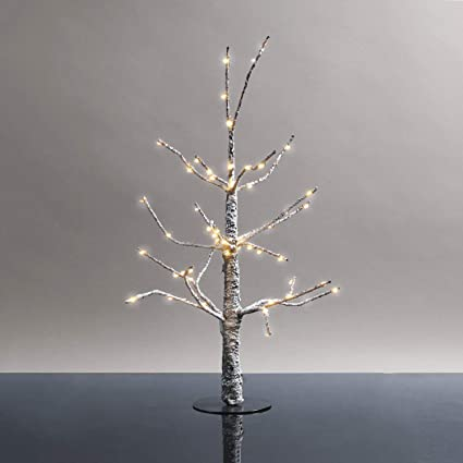 LampLust Mini Lighted Christmas Tree - 18 Inch Size, Prelit Snow Covered Branches  with 60 - Amazon.com: LampLust Mini Lighted Christmas Tree - 18 Inch Size