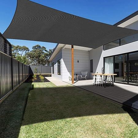 N / A Toldo toldo rectángulo Dosel para jardín Patio Exterior con jardín, protección UV, el 95% de Sombra, 180 g / m2,Gris,2 * 2m: Amazon.es: Hogar