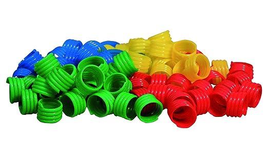 TAUBENRINGE aus Kunststoff (Durchm. 8 mm) *20 Stück* (BLAU)
