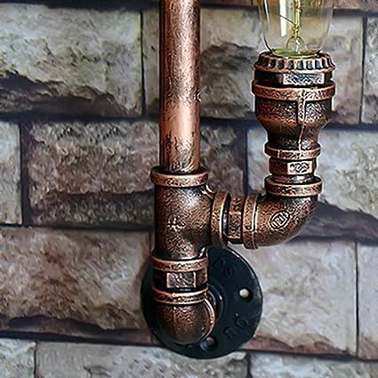 Water Pipe Wandleuchter Metall 3 Kopf Vintage Industrial