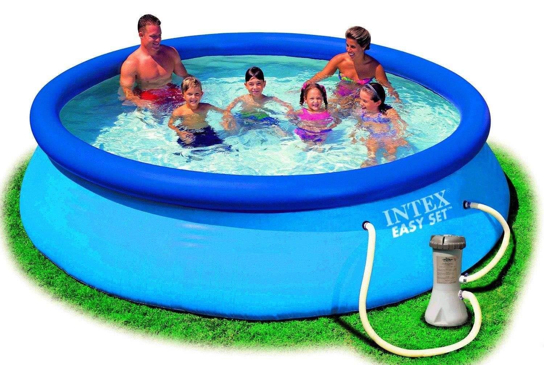 Easy Set Pool Con Bomba 366x76 cm: Amazon.es: Juguetes y juegos
