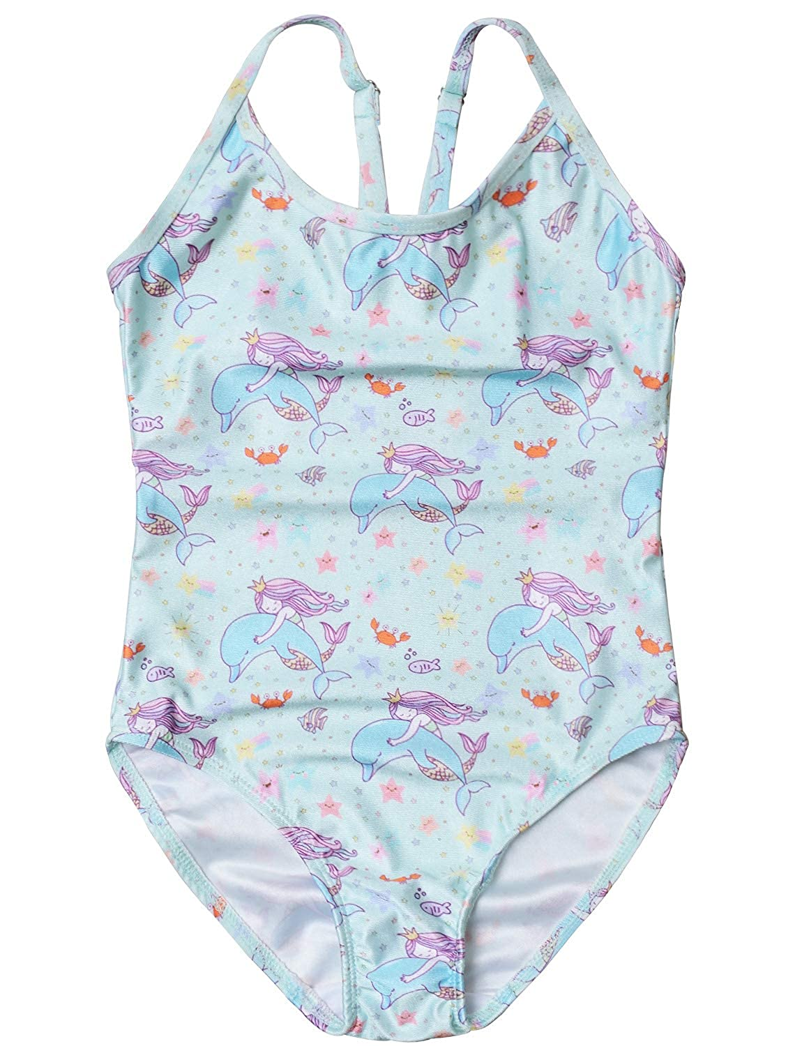 Girls Swimsuits Unicorn Mermaid Bathing Suits for Kids One Piece Beach Clothes