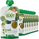 Good Goût - BIO - Gourde de Légumes Brocolis dès 4 Mois 120 g - Pack de 10