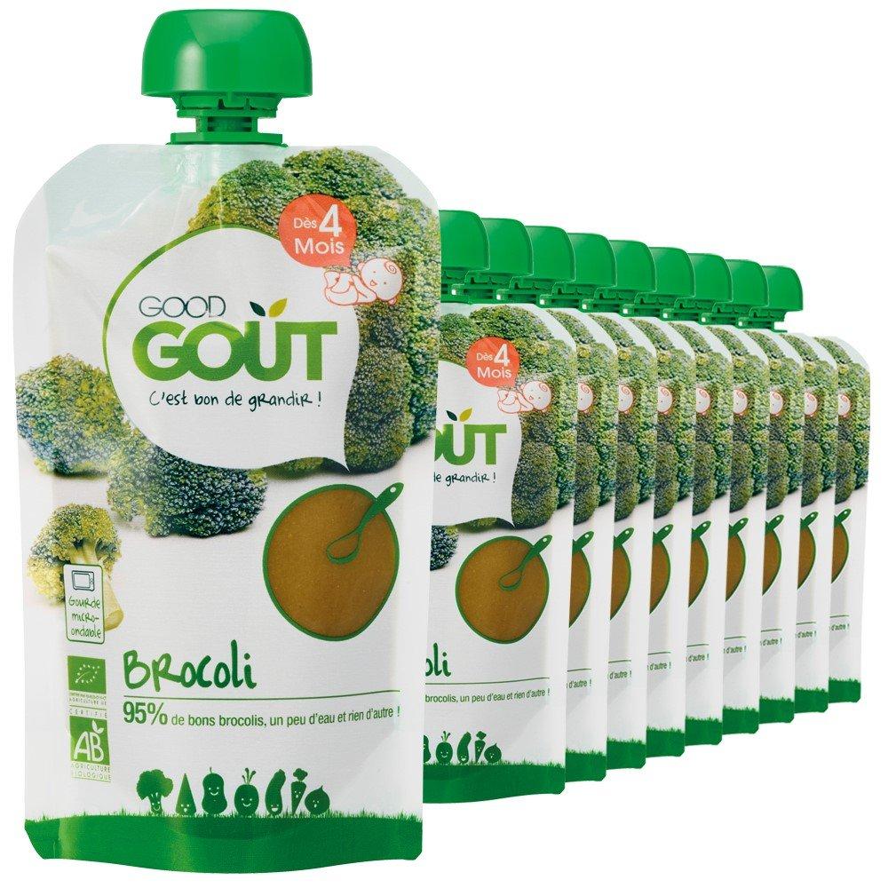 Good Goût - BIO - Gourde de Légumes Brocolis dès 4 Mois 120 g - Pack de 10 33770002327273
