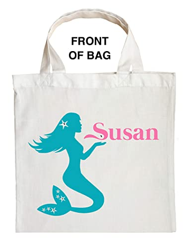 Halloween Trick Or Treat Bags Personalized.Amazon Com Mermaid Trick Or Treat Bag Personalized Mermaid