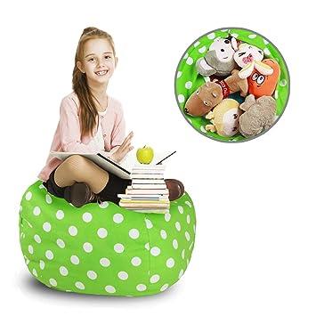 Amazon Com Ropoda Kids Stuffed Animal Storage Bean Bag Cover 100