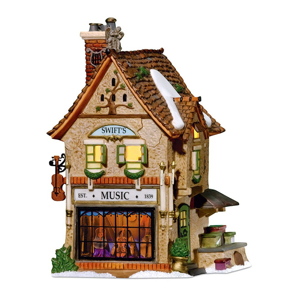 Department 56 Dickens' Village Swifts Stringed Instruments Lit House