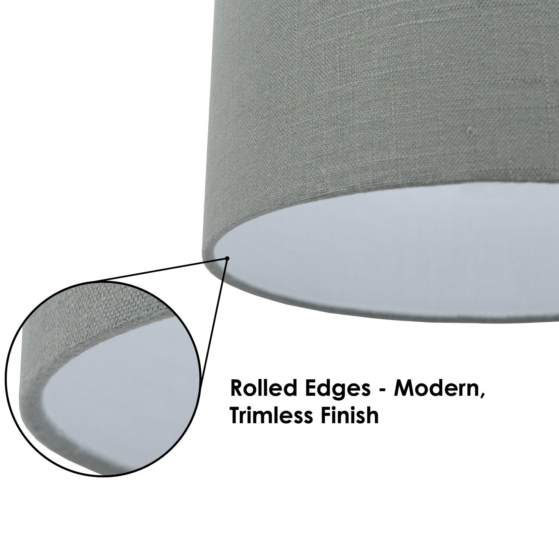 FenchelShades.com 18'' Top Diameter x 18'' Bottom Diameter 12'' Height Cylinder Drum Lampshade USA Made (Designer Glacier Blue)