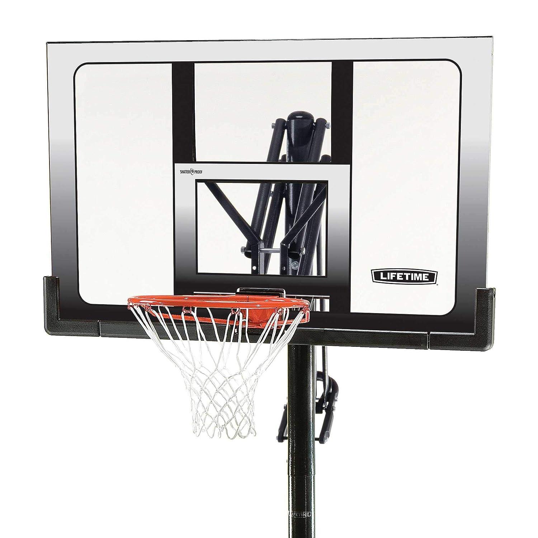 Lifetime Front Court Steel-Framed Shatterproof Portable Basketball System 52-Inch