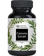 Curcuma Extrakt Kapseln - Vergleichssieger 2018* - Curcumingehalt EINER Kapsel entspricht dem von ca. 10.000mg Kurkuma - Hochdosiert aus 95% Extrakt - Laborgeprüft und hergestellt in Deutschland