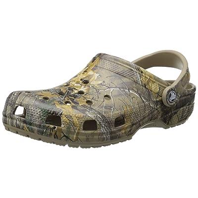 crocs Men's Classic Realtree Xtra Clog, Khaki, 10 US Men / 12 US Women | Shoes
